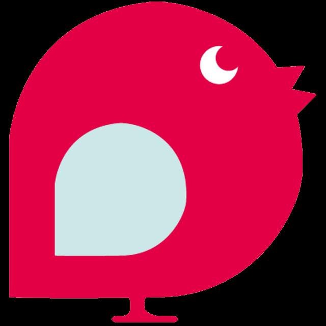Reversible Baby Sun Hat - Bird Babble