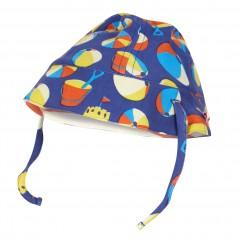 Reversible Baby Sun Hat - Beach Days