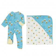 Bumblebee Sleepsuit & Blanket Gift Set