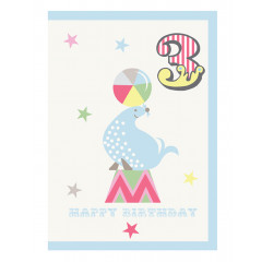 Piccalilly Multi-coloured Happy 3rd Birthday Card Boy or Girl