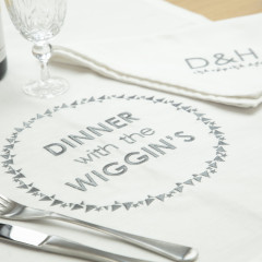 Personalised Family Dinner Tablecloth