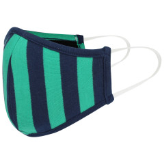 Kids Face Covering - Green Stripe