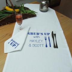 Personalised Table Runner & Napkin Set