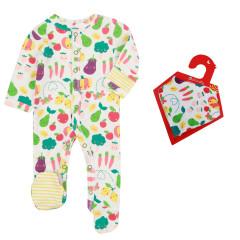 Grow Your Own Sleepsuit & Muslin Bib Set