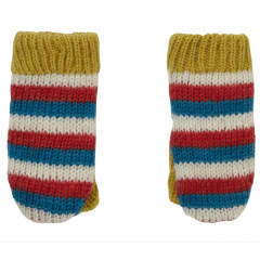 Piccalilly Striped Knit Mittens