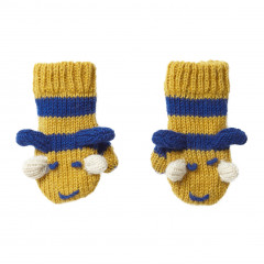 Piccalilly Kids Knitted Bumblebee Woolly Mittens