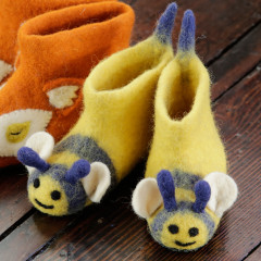 Piccalilly Cute Kids Felt Slippers