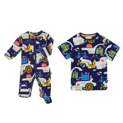 London Baby Sleepsuit & T-Shirt Sibling Outfit