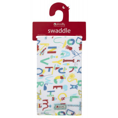 Piccalilly Unisex Alphabet Muslin Swaddle