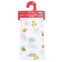 Piccalilly Large Muslin Cloth with Bee Print