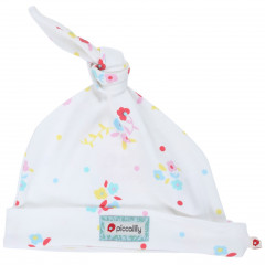 Piccalilly Organic Cotton Flowery Baby Cap