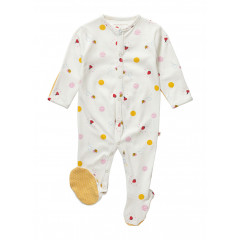 Piccalilly Organic Cotton Ladybird Sleepsuit