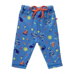 Piccalilly Organic Cotton Seaside Reversible Trousers