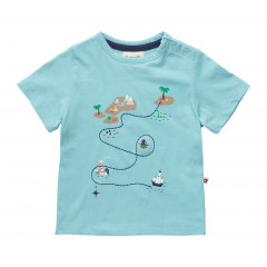 Piccalilly Kids Blue Treasure Map Short-Sleeve T-Shirt