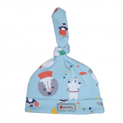Piccalilly Organic Cotton Artic Animal Baby Knot Hat