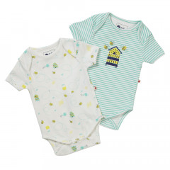 Piccalilly Unisex Short Sleeve Bee Baby Bodysuit