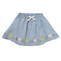 Piccalilly Organic Chambrary Girls Skirt