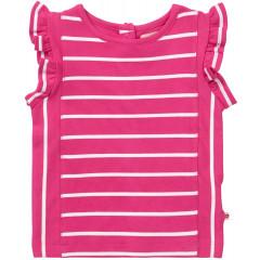 Piccalilly Pink Stripe Girls Vest Top