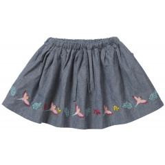 Piccalilly Blue Denim Girls Skirt