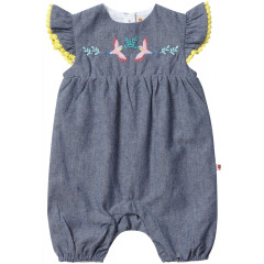 Chambray Romper - Tropical
