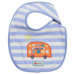 Piccalilly Red London Bus Bib for Baby
