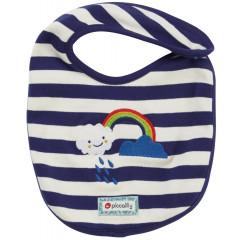 Piccalilly Blue Stripe Baby Bib
