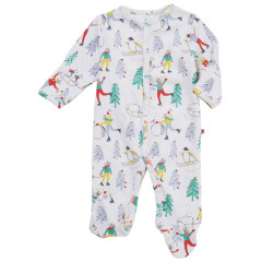 Piccalilly Baby's First Christmas Sleepsuit