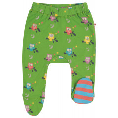 Footed Baby Trousers - Midnight Owl