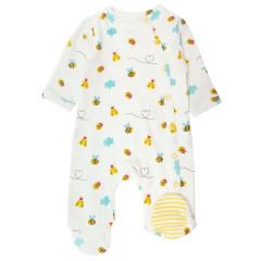 Wrapover Footed Sleepsuit - Bumblebee