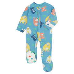 Piccalilly Orangutan Baby Sleepsuit with Feet