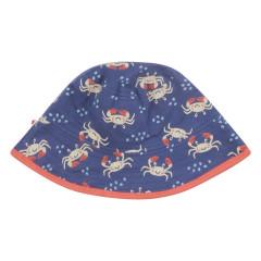Piccalilly Ocean Crab Reversible Kids Sun Hat