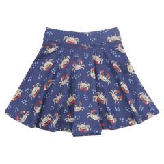 Piccalilly Blue Ocean Crab Skater Skirt