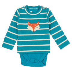 Piccalilly Fox Baby Top with Integrated Bodysuit