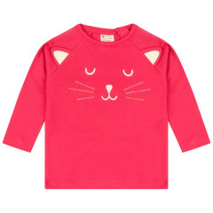 Piccalilly Little Kitten Top for Girls