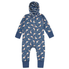 Piccalilly Narwhals Hooded Playsuit