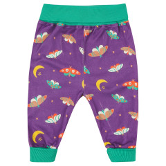 Piccalilly Purple Moonlight Moth Baby Trousers