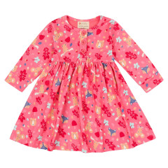 Piccalilly Pink Girls Forest Fairytale Dress