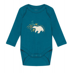 Piccalilly Teal Blue Baby Bodysuit