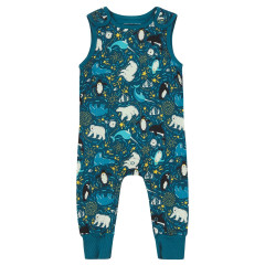 Piccalilly Arctic Jersey Dungarees for Kids
