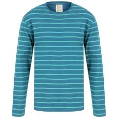 Men's Blue Stripe Loungewear Top