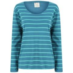 Women's Blue Stripe Loungewear Top