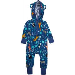 Hooded Playsuit - Wildlife