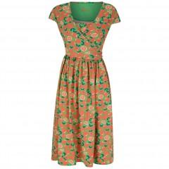 Women's Wrap Dress - Oranges