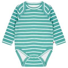Building Block Long Sleeve Baby Body - Aqua Green