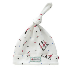 Piccalilly Organic Cotton White Changing Guards Knotted Hat Boy or Girl