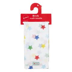Muslin Swaddle - Rainbow Star