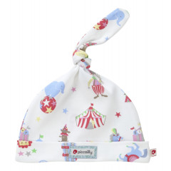 Piccalilly Organic Cotton Multi-coloured Unisex Retro Circus Print Knotted Hat