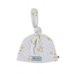 Piccalilly Organic Cotton Yellow & Blue Unisex Tiny Geese Baby Hat