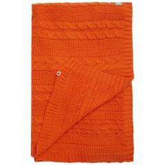 Cable Knit Blanket - Burnt Orange
