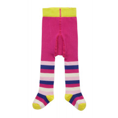 Piccalilly Organic Cotton Pink Girls Stripe Tights